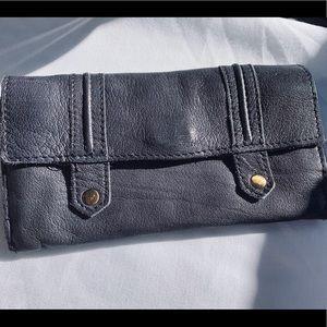 Top Shop Leather Wallet Deep Blue Soft Leather